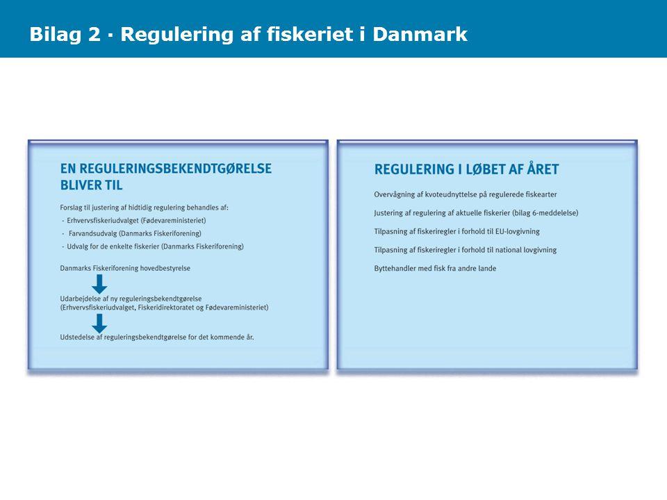 Bilag 2 · Regulering af fiskeriet i Danmark