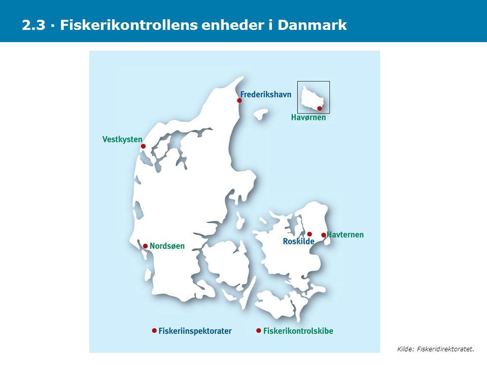 2.3 · Fiskerikontrollens enheder i Danmark