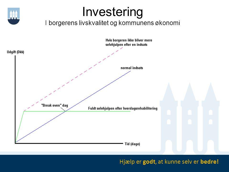 Investering I borgerens livskvalitet og kommunens økonomi