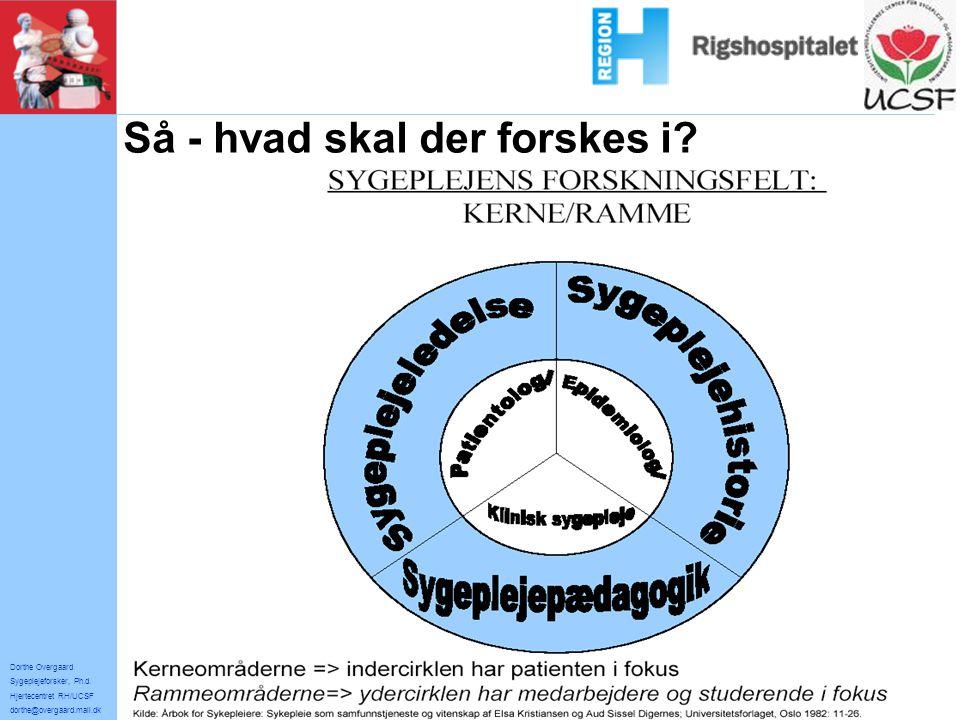 vi kjhh Så - hvad skal der forskes i Dorthe Overgaard