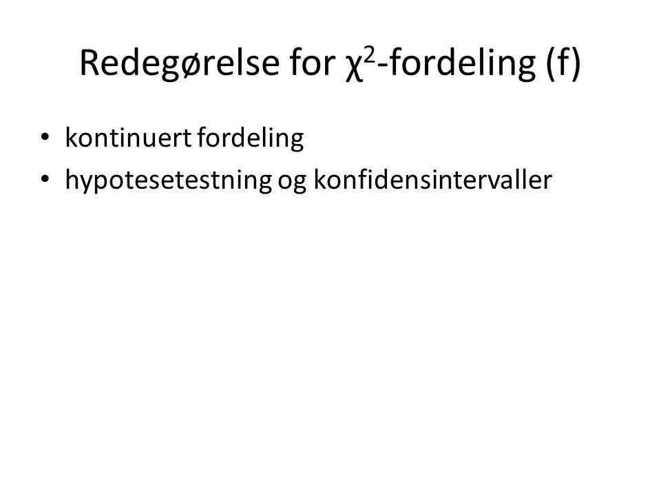 Redegørelse for χ2-fordeling (f)