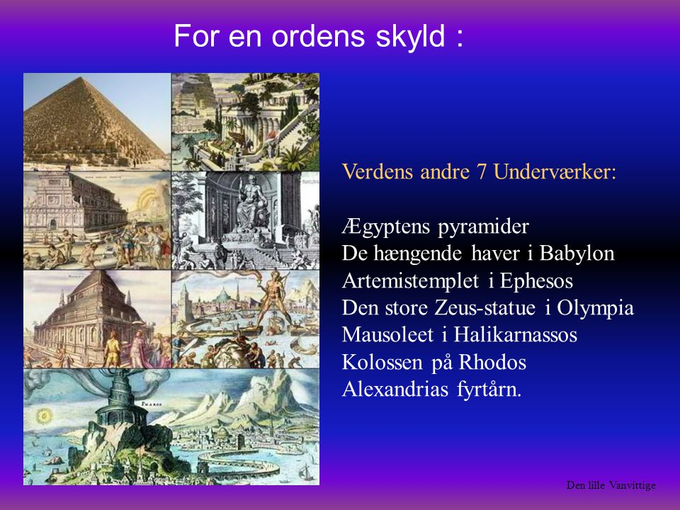For en ordens skyld :