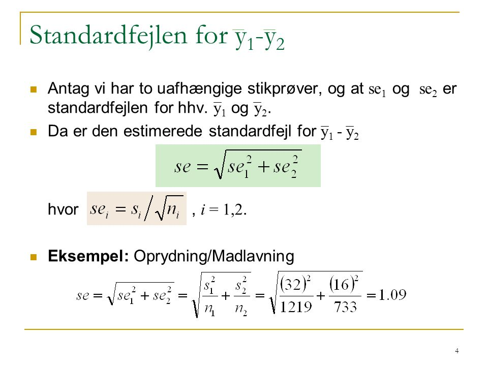 Standardfejlen for y1-y2