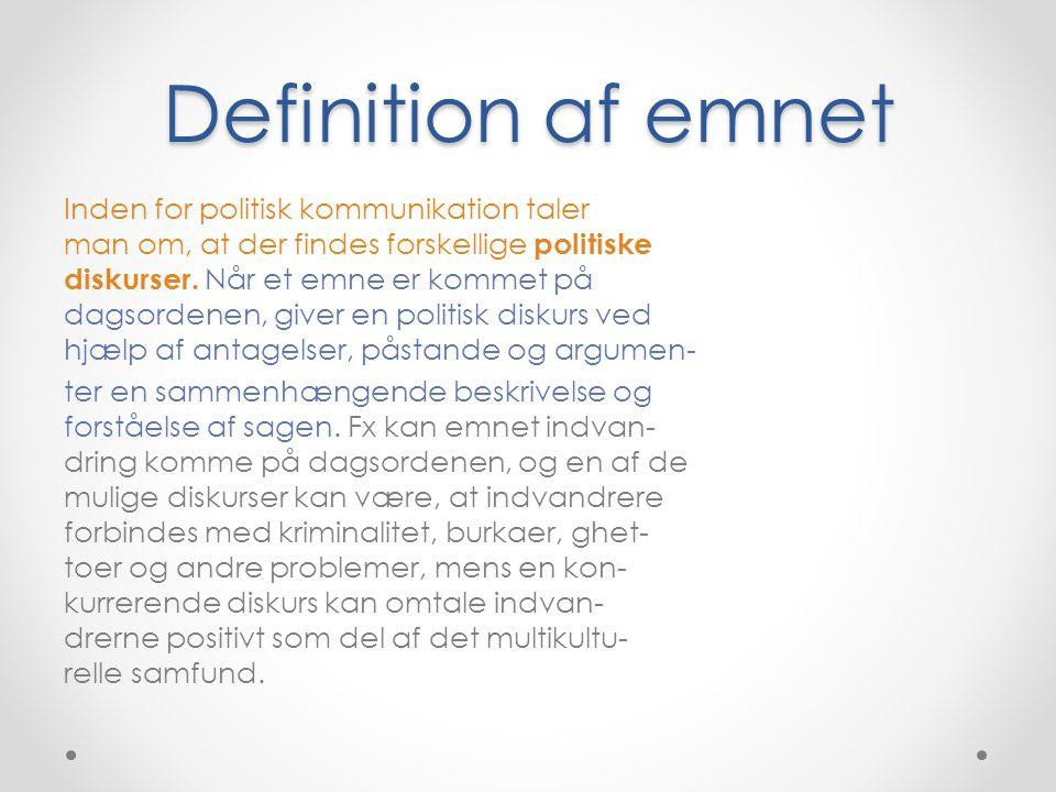 Definition af emnet