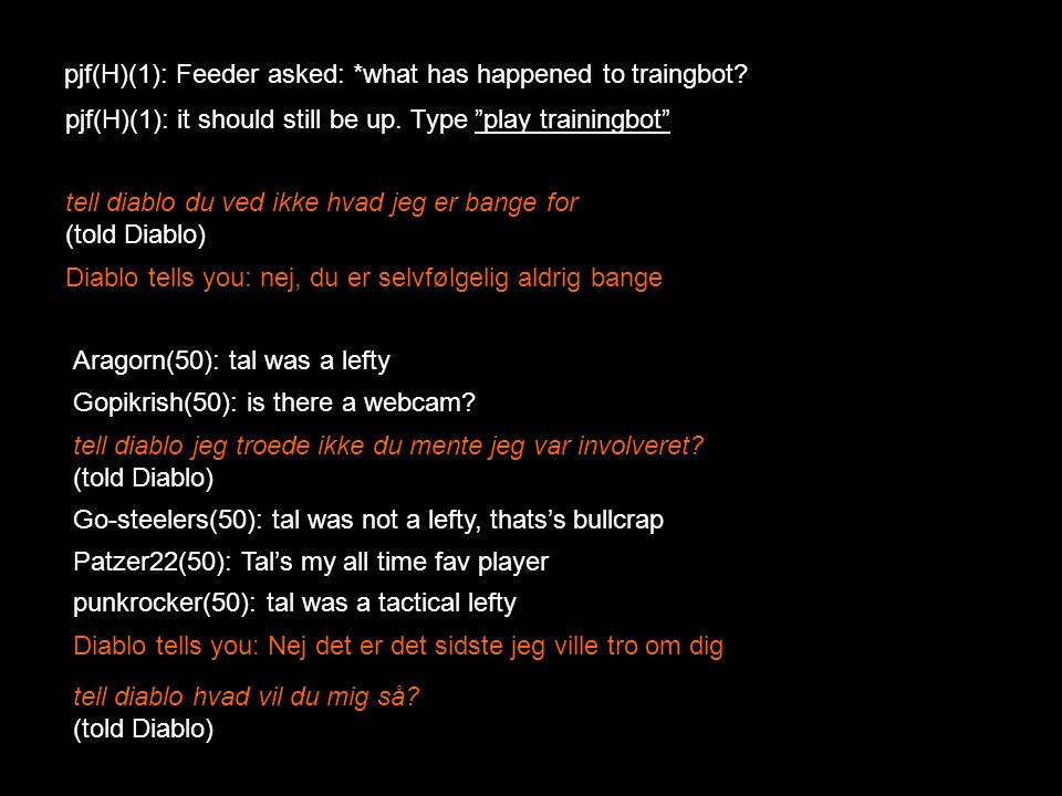 pjf(H)(1): Feeder asked: *what has happened to traingbot