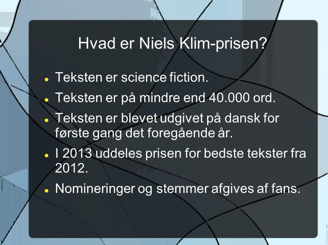 Hvad er Niels Klim-prisen