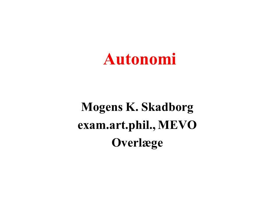 Mogens K. Skadborg exam.art.phil., MEVO Overlæge