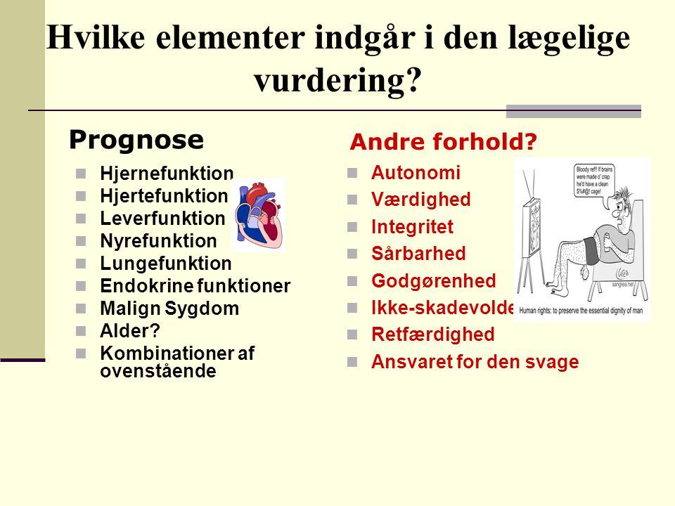 Hvilke elementer indgår i den lægelige vurdering