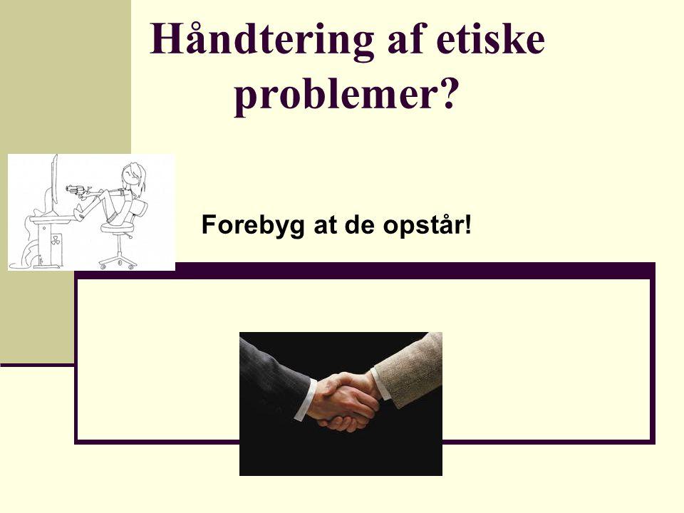 Håndtering af etiske problemer