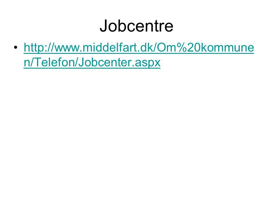Jobcentre http://www.middelfart.dk/Om%20kommunen/Telefon/Jobcenter.aspx