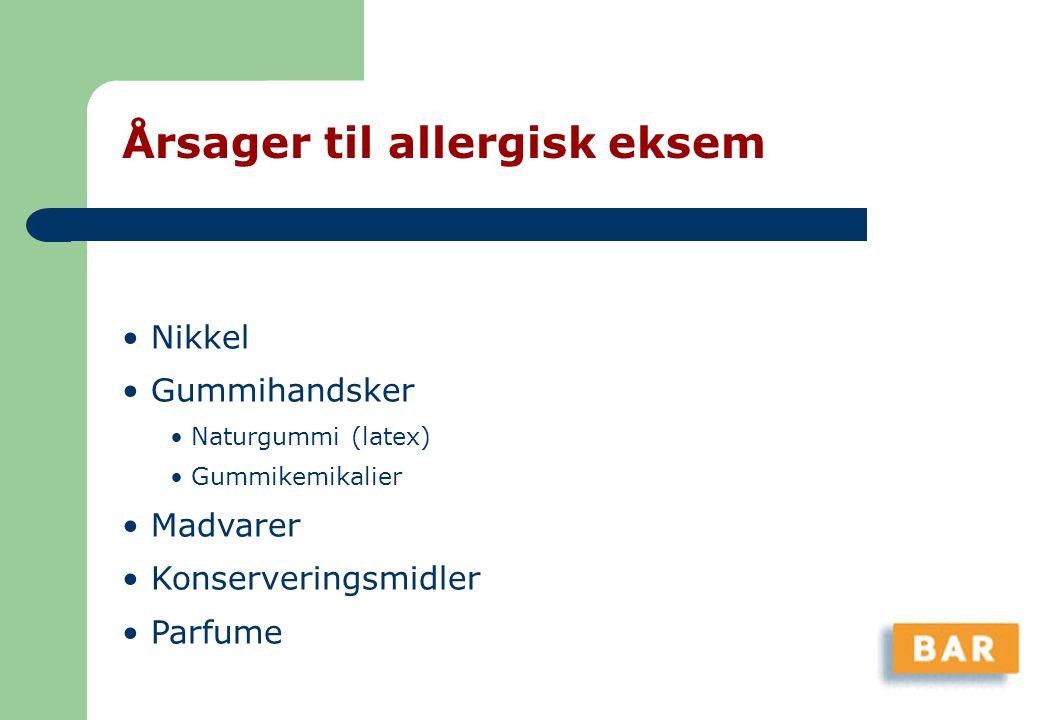 Årsager til allergisk eksem