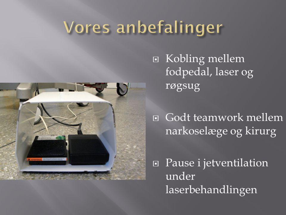 Vores anbefalinger Kobling mellem fodpedal, laser og røgsug