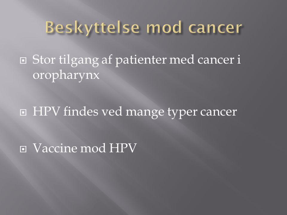 Beskyttelse mod cancer