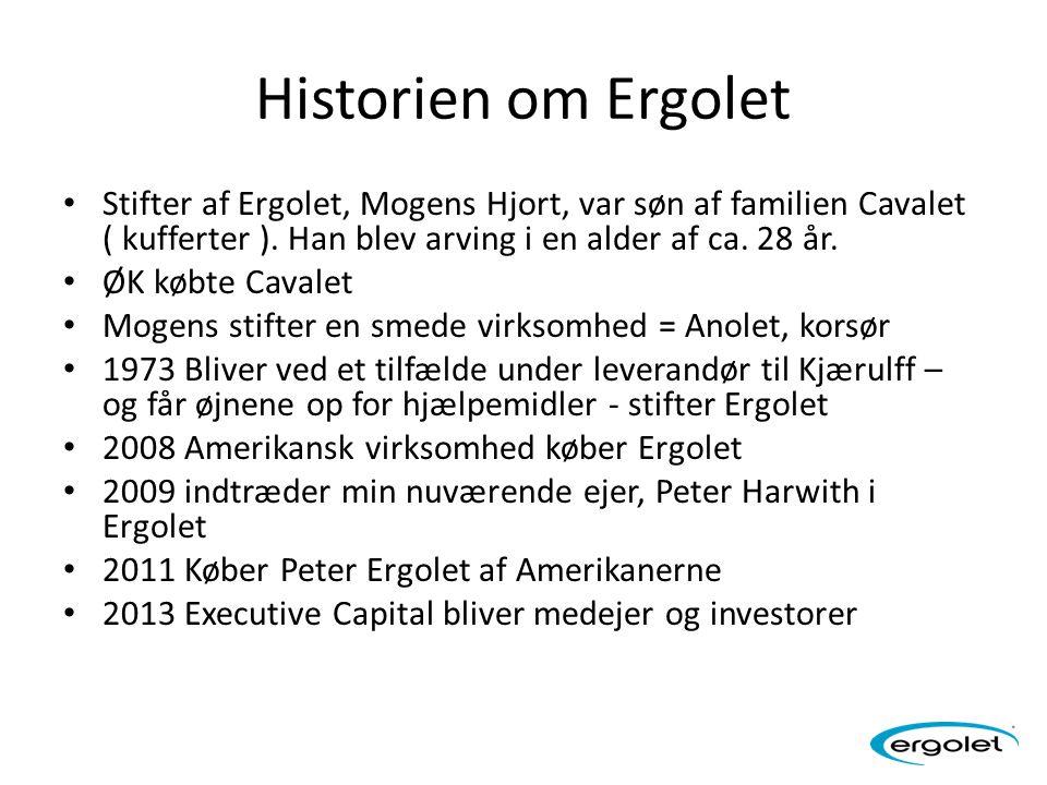 Historien om Ergolet Stifter af Ergolet, Mogens Hjort, var søn af familien Cavalet ( kufferter ). Han blev arving i en alder af ca. 28 år.