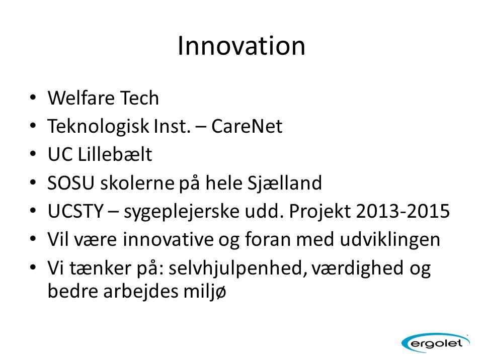 Innovation Welfare Tech Teknologisk Inst. – CareNet UC Lillebælt