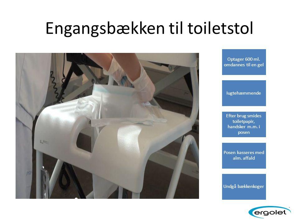 Engangsbækken til toiletstol