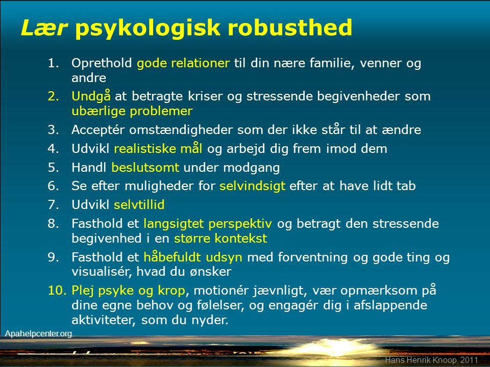 Lær psykologisk robusthed