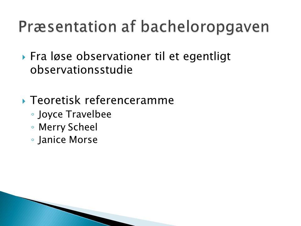 Præsentation af bacheloropgaven
