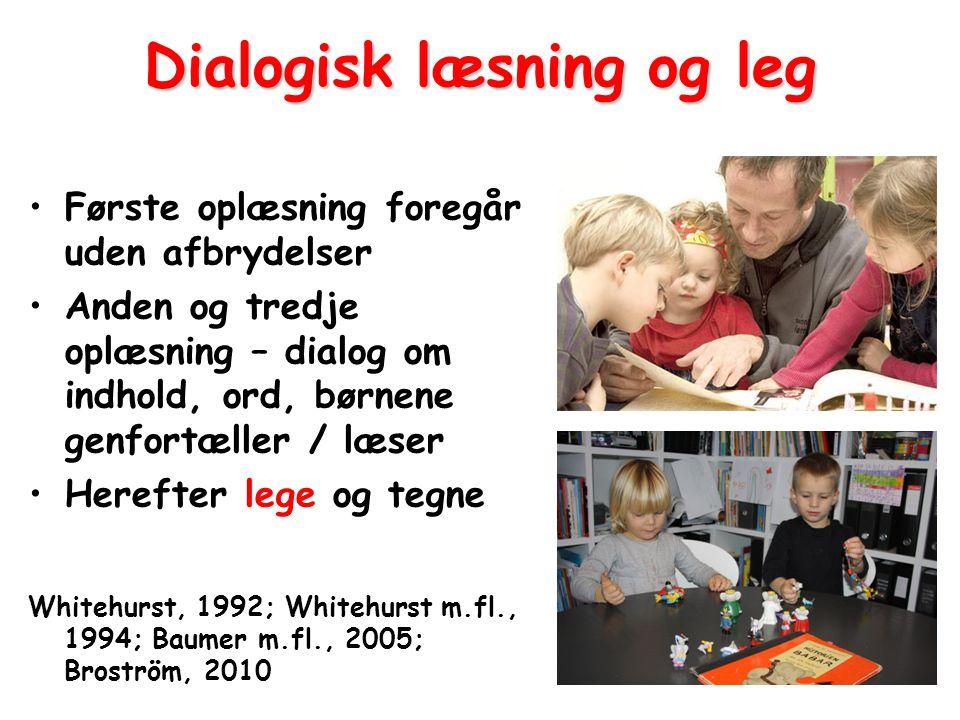 Dialogisk læsning og leg