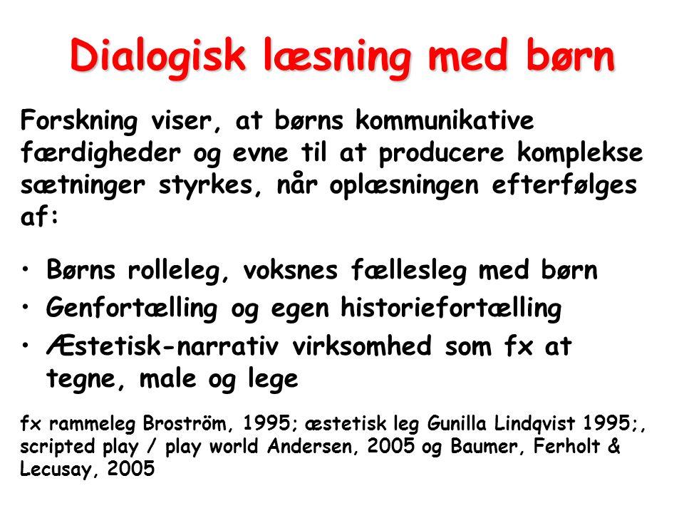 Dialogisk læsning med børn
