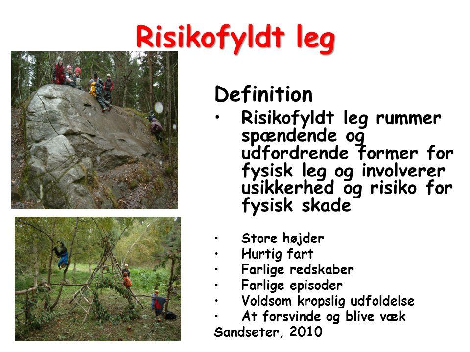 Risikofyldt leg Definition