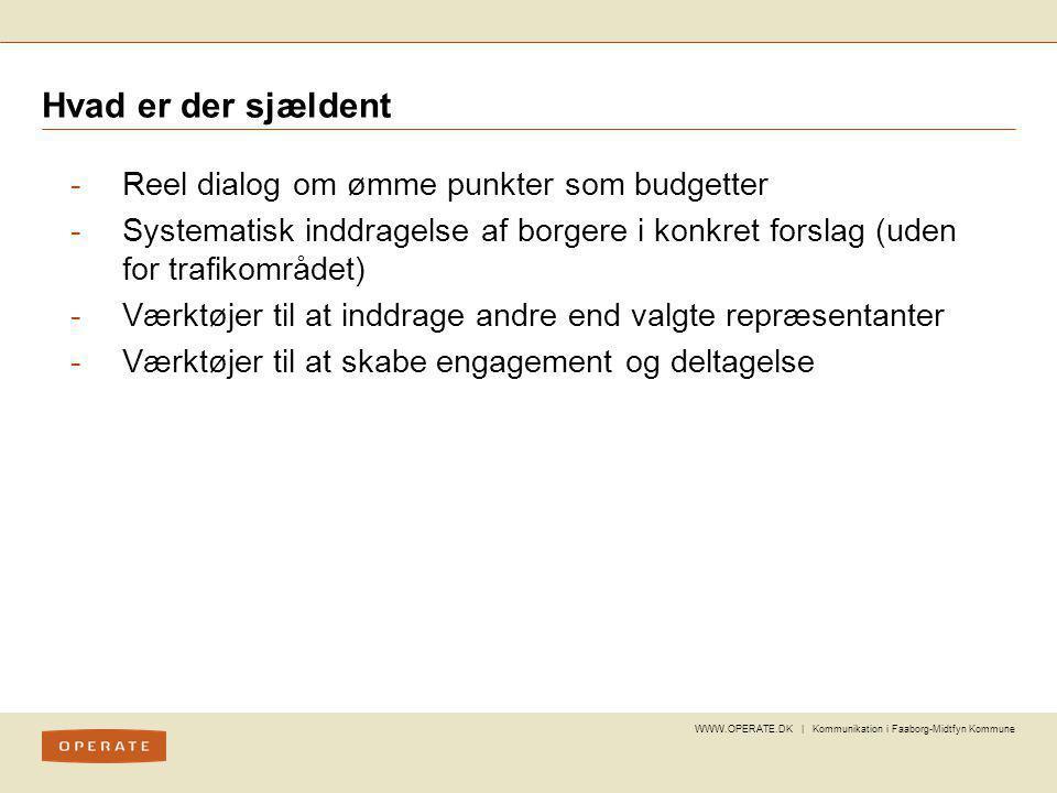 Hvad er der sjældent Reel dialog om ømme punkter som budgetter