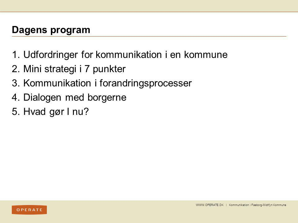 Udfordringer for kommunikation i en kommune Mini strategi i 7 punkter