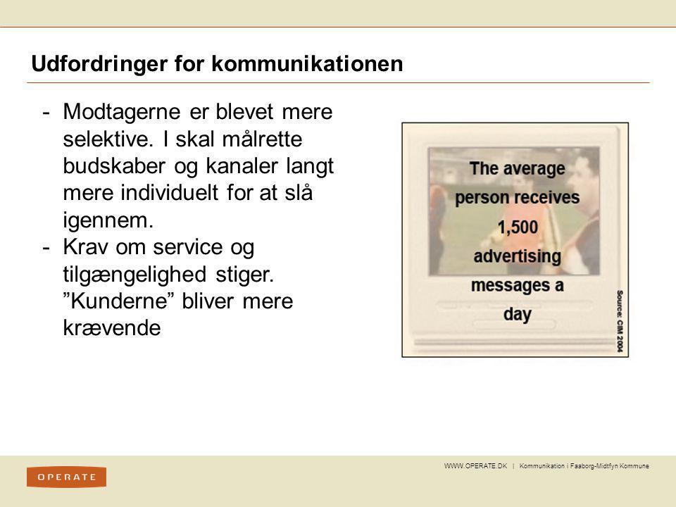 Udfordringer for kommunikationen