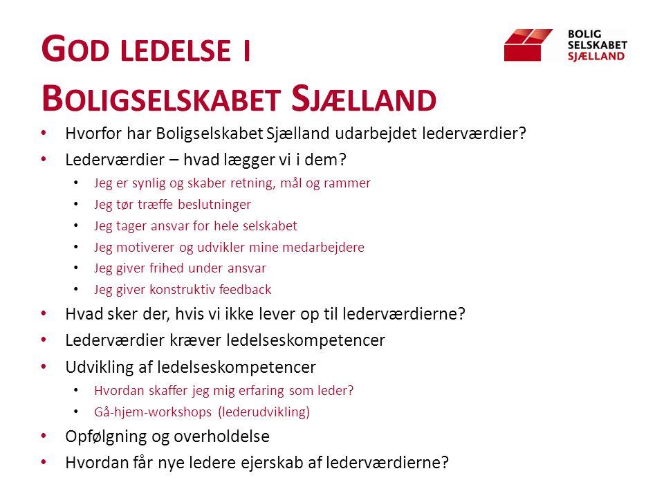 God ledelse i Boligselskabet Sjælland