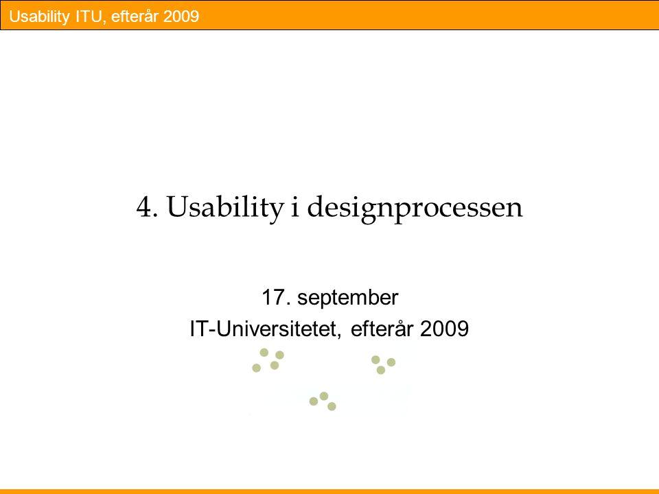 4. Usability i designprocessen