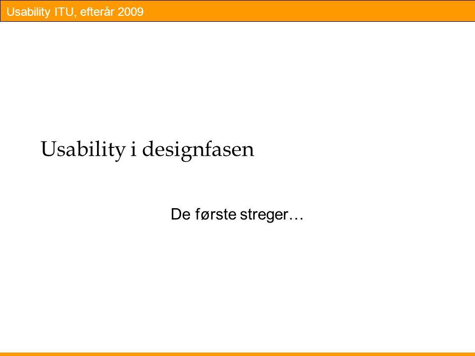 Usability i designfasen