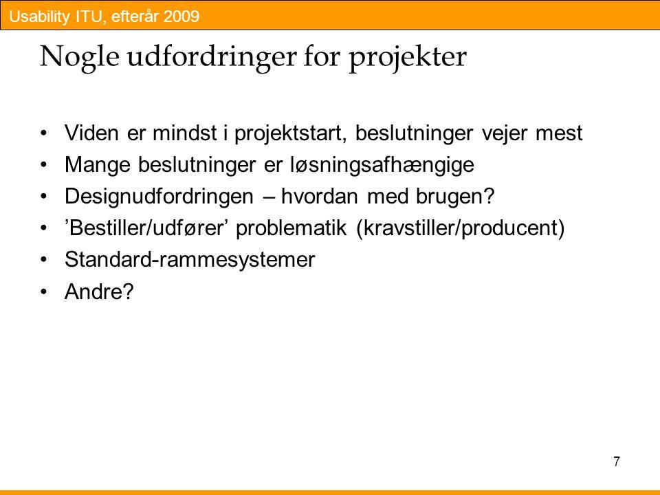 Nogle udfordringer for projekter