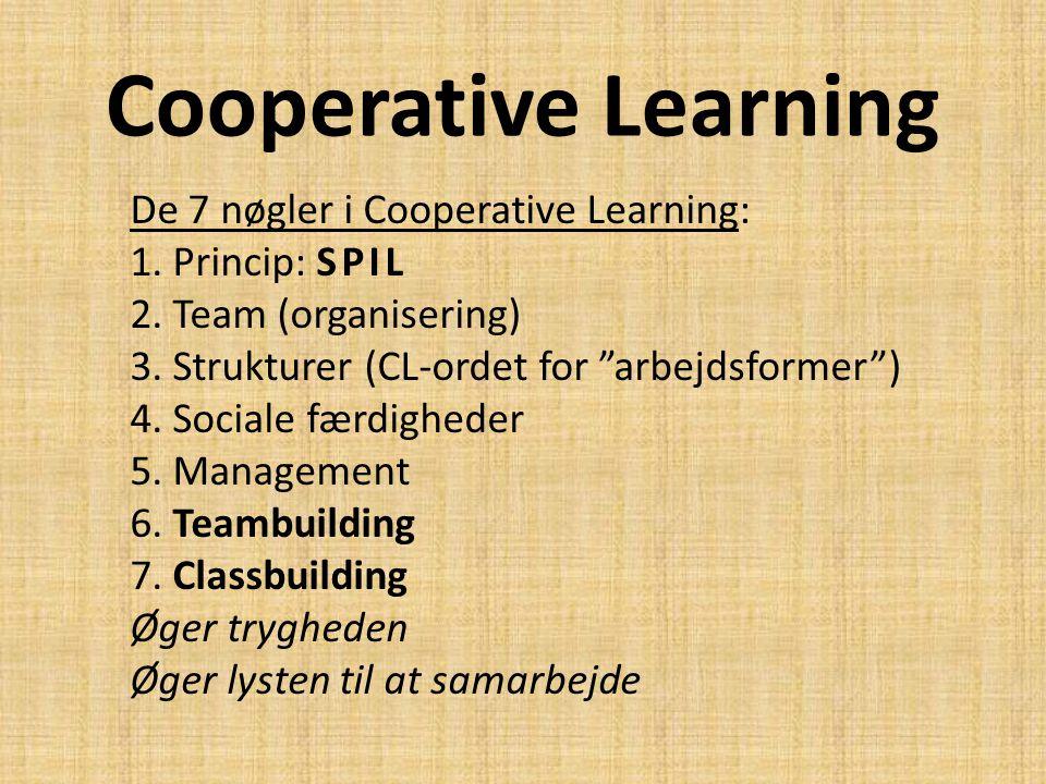 Cooperative Learning De 7 nøgler i Cooperative Learning: