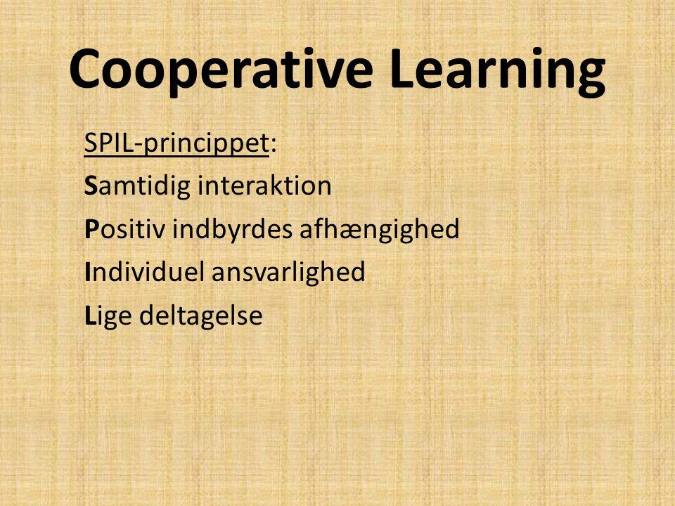 Cooperative Learning SPIL-princippet: Samtidig interaktion