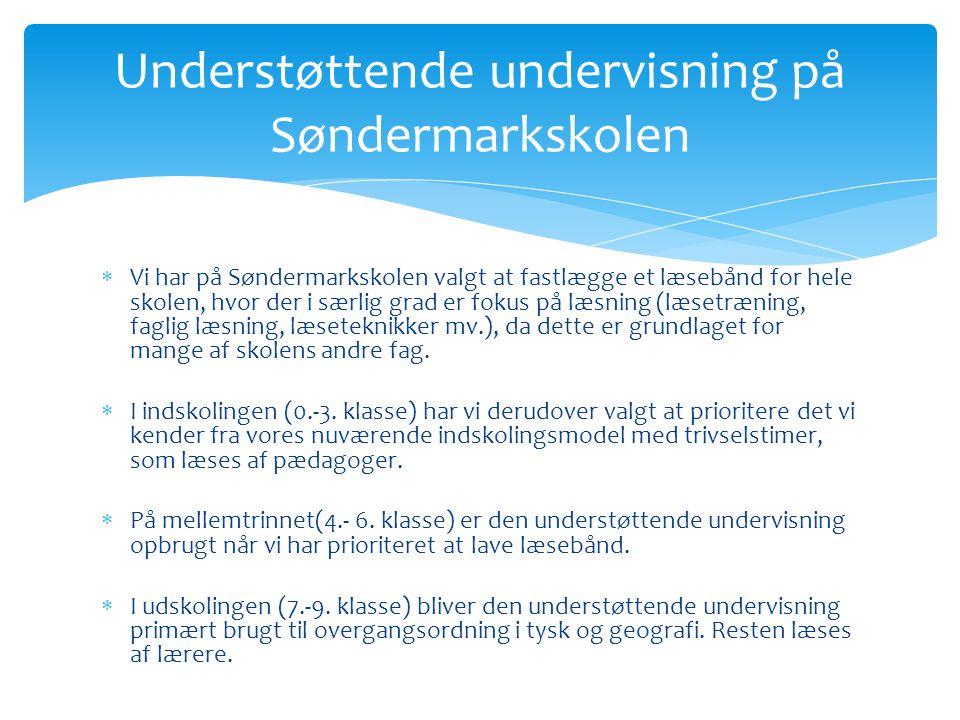 Understøttende undervisning på Søndermarkskolen