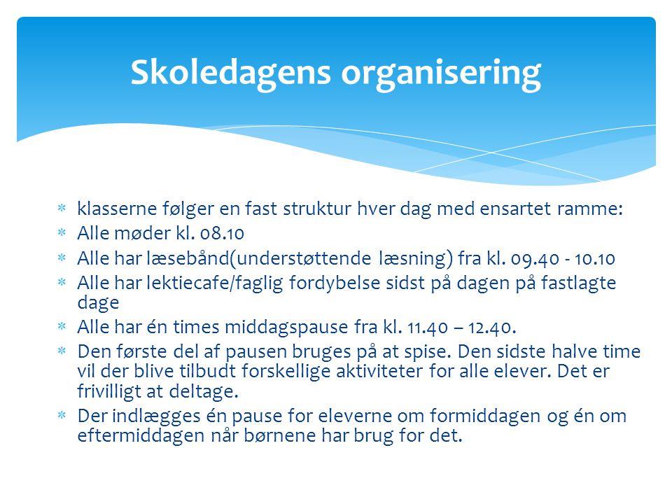 Skoledagens organisering