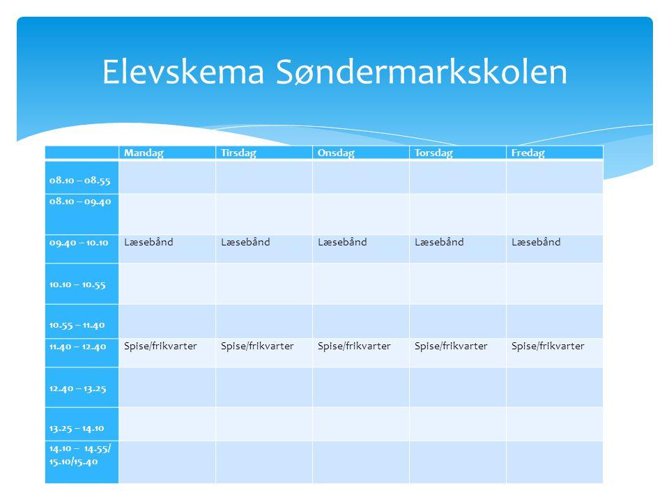 Elevskema Søndermarkskolen
