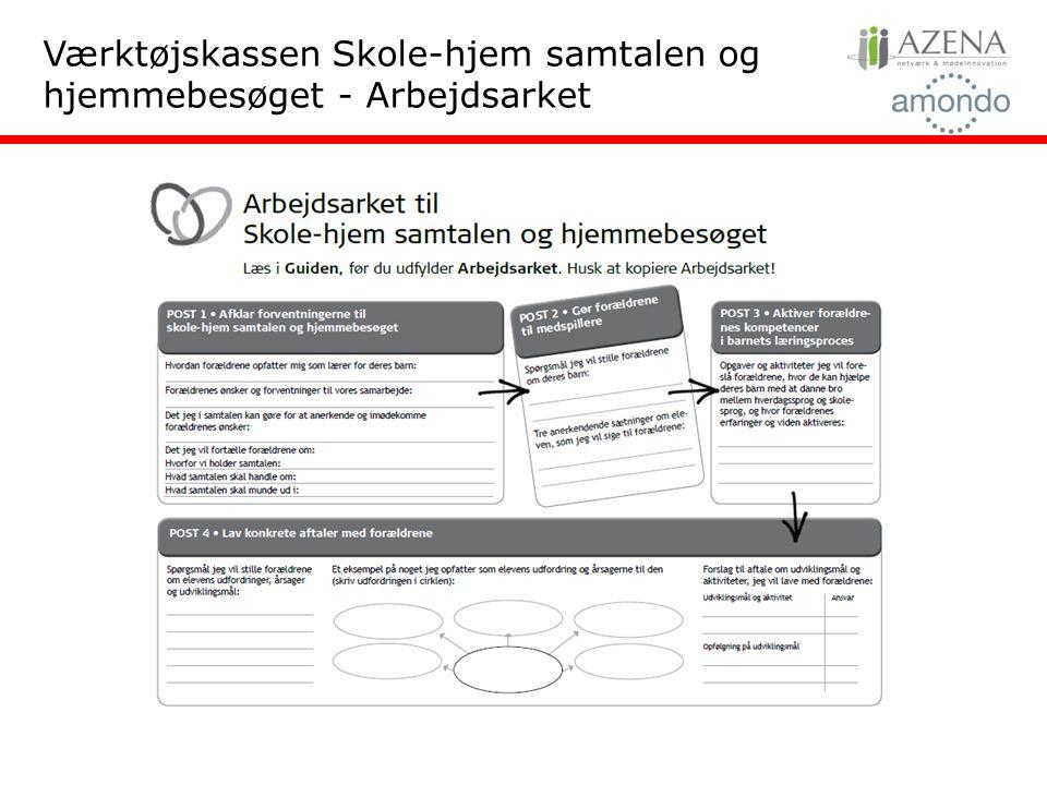 Værktøjskassen Skole-hjem samtalen og hjemmebesøget - Arbejdsarket