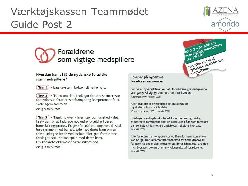 Værktøjskassen Teammødet Guide Post 2