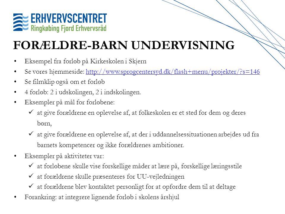 FORÆLDRE-BARN UNDERVISNING
