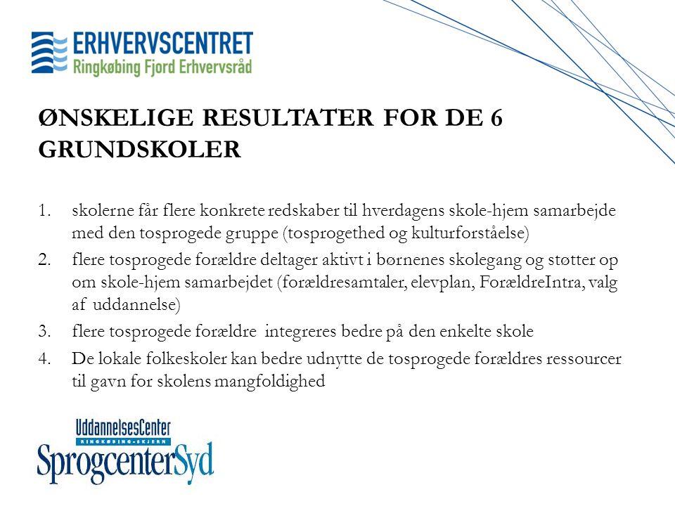 ØNSKELIGE RESULTATER FOR DE 6 GRUNDSKOLER