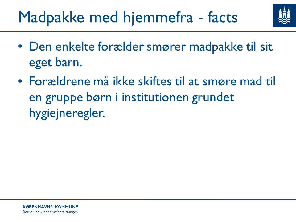 Madpakke med hjemmefra - facts