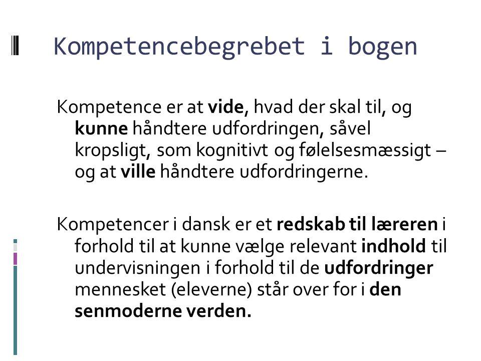 Kompetencebegrebet i bogen