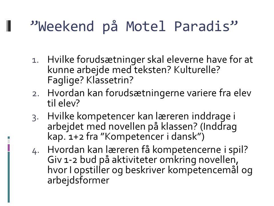 Weekend på Motel Paradis
