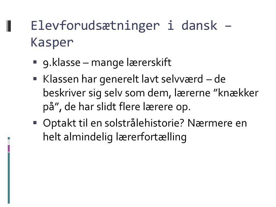 Elevforudsætninger i dansk – Kasper
