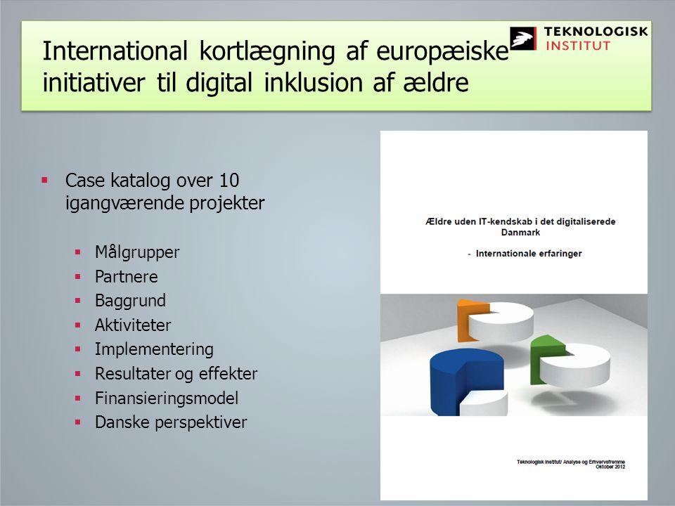 International kortlægning af europæiske initiativer til digital inklusion af ældre