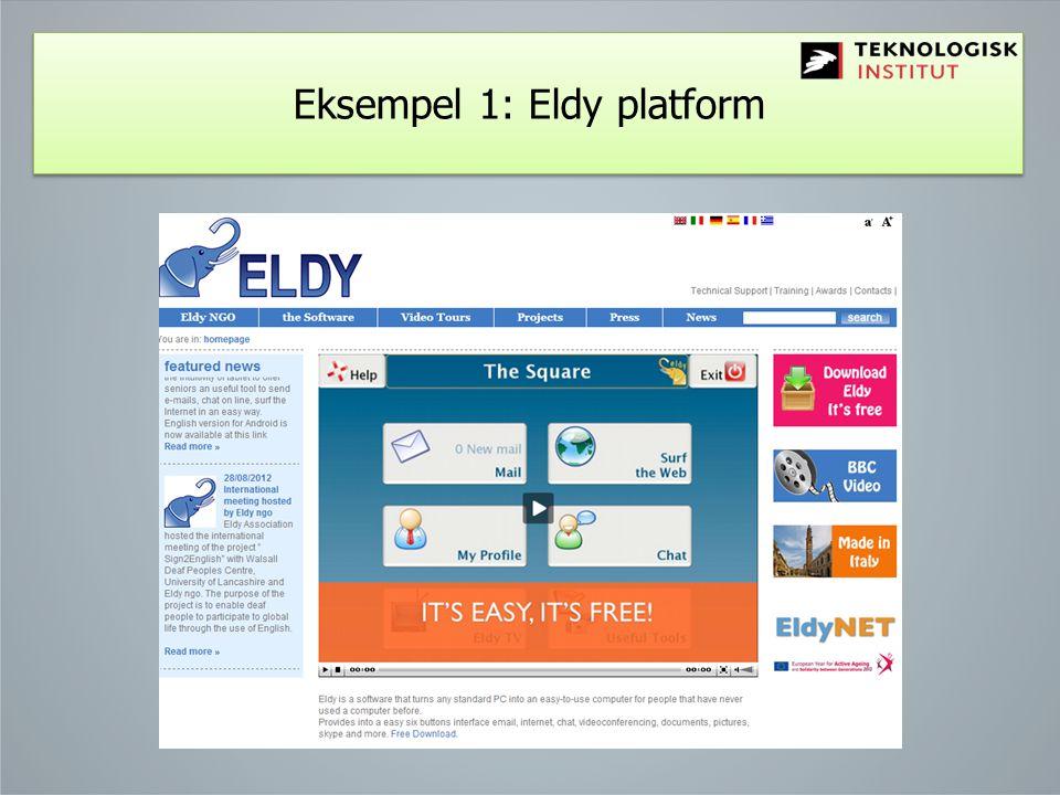 Eksempel 1: Eldy platform