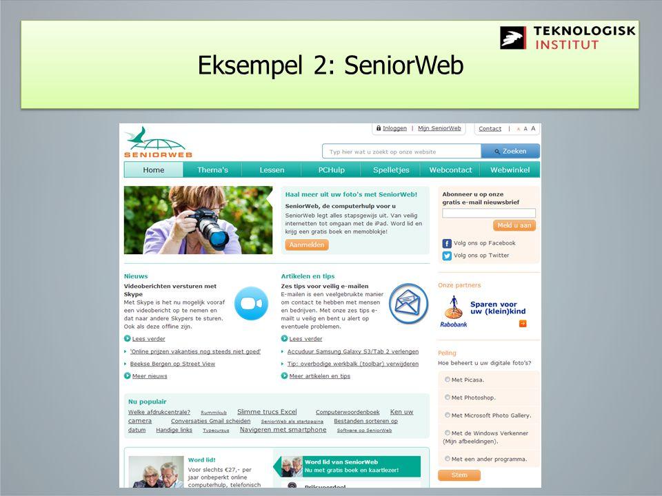 Eksempel 2: SeniorWeb