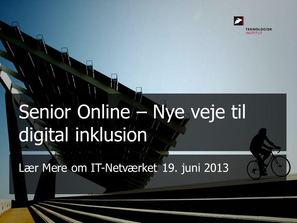 Senior Online – Nye veje til digital inklusion