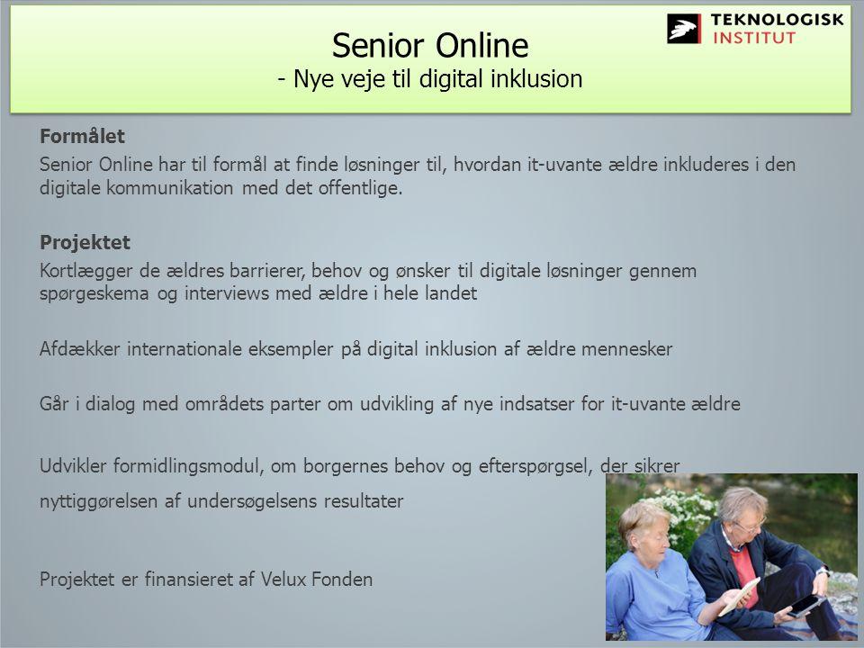 Senior Online - Nye veje til digital inklusion